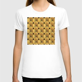 Art Deco-Reminiscent Pattern: Royal Casino Million Dollar Chips T-shirt