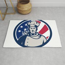 American Baker Chef USA Flag Icon Rug