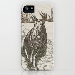 Guardian of the Hinterland (moose) iPhone Case