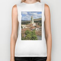 cuba Biker Tanks featuring Trinidad, Cuba by Parrish