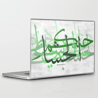 calligraphy Laptop & iPad Skins featuring calligraphy by apostrophe