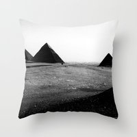 egypt Throw Pillows featuring Egypt, Pyramids by DLS Design
