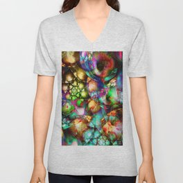 The abstract materialism is the spiritualism abstracted from the material Unisex V-Neck