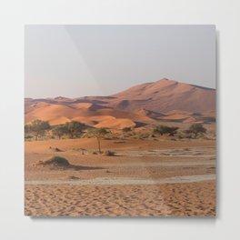 Desert textures - Sossusvlei desert, Namibia Metal Print
