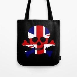 Union Jack Skull and Crossbones Tote Bag