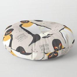 Emperor Penguin, Antarctica Wildlife Floor Pillow