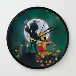 Kubo digital painting Wall Clock