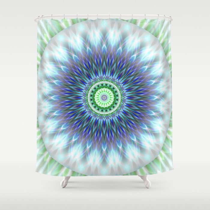 Light Mandala Shower Curtain