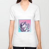 bucky V-neck T-shirts featuring Bucky II by manso