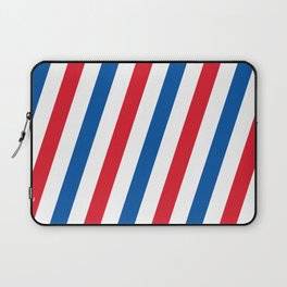 Blue, white and red stripes pattern Laptop Sleeve