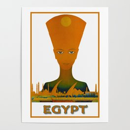 Vintage Egypt Pharaoh Travel Poster