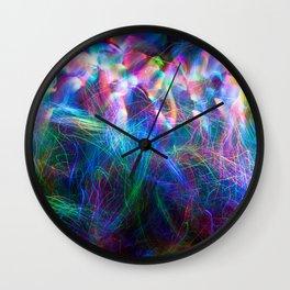 wispy fiber optic light painting Wall Clock