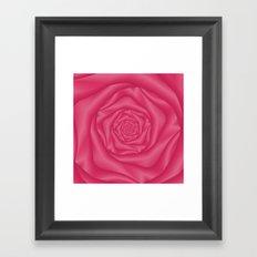 Spiral Rose in Pink Framed Art Print