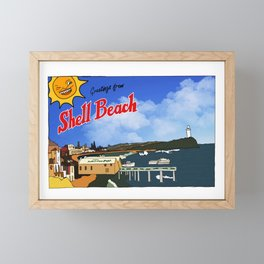 Greetings From Shell Beach Framed Mini Art Print