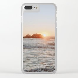 summer sunset iii Clear iPhone Case
