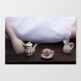 Alice's Escapades ~ Alice & The Tea Party Canvas Print