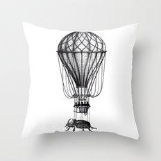 Discovery (black on white) Throw Pillow