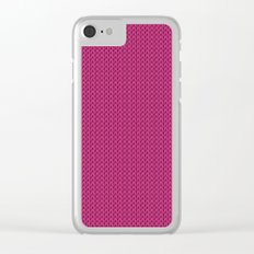 Knitted spring colors - Pantone Pink Yarrow Clear iPhone Case
