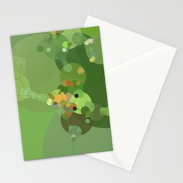 kelly - bright spring green abstract design Stationery Cards