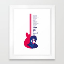 Noel Gallagher - Don't Look Back In Anger Framed Art Print
