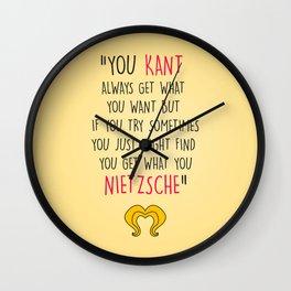 Hedwig, Kant & Nietzsche Wall Clock