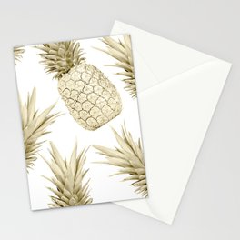 Gold Pineapple Party Stationery Cards