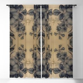 Dune Pale Oyster Flora Blackout Curtain