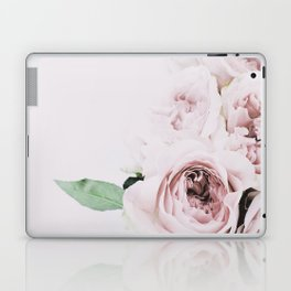 Flowers, Roses, Leaves, Plant, Green, Scandinavian, Minimal, Modern, Wall art Laptop & iPad Skin