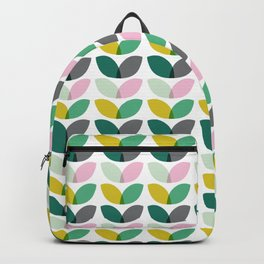 Abstract floral blooms summer print Backpack
