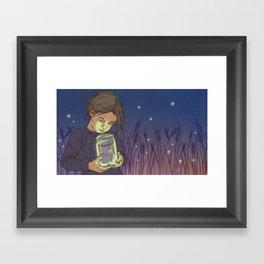 Lightning Bugs Framed Art Print
