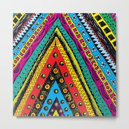 colorful triangle tribal Metal Print