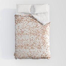 Elegant pink rose gold glam confetti Comforters
