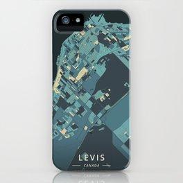Levis, Canada - Cream Blue iPhone Case