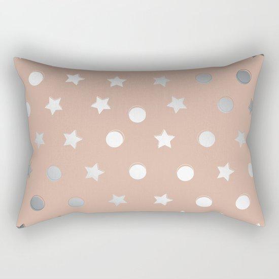 Silver Confetti Rectangular Pillow