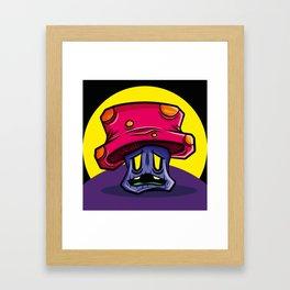 Zombie Mushroom Framed Art Print