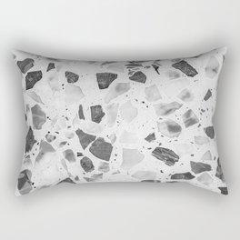 Stylish Black White Chic Marble Texture Rectangular Pillow