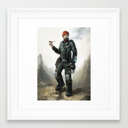 Hollow Earth Explorer Framed Art Print