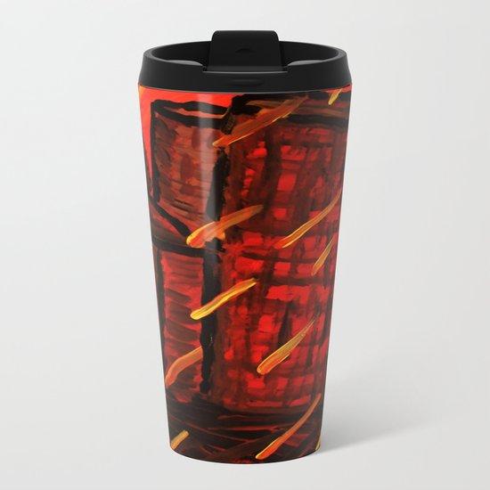 Fire Sky Metal Travel Mug