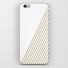 Tan & White Stripes  iPhone & iPod Skin