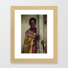 Village Girl Framed Art Print