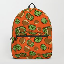 Chestnut and Chestnut Cupule Pattern Backpack