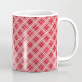 Christmas Red Poinsettia Tartan Check Plaid Coffee Mug