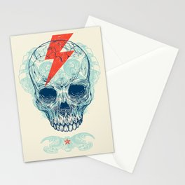 Skull Bolt Stationery Cards