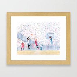 A Three Wins the Series Framed Art Print