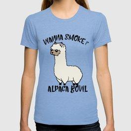 Wanna Smoke Alpaca Bowl T-shirt