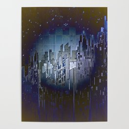 Walls in the Night - UFOs in the Sky Poster