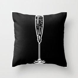 Funny Champagne Glass Shirt Gift Design Motif Throw Pillow