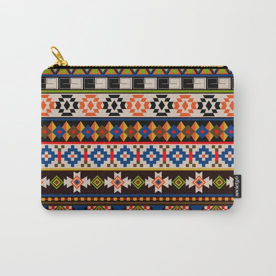 Colourful tribal Aztec patterns Carry-All Pouch