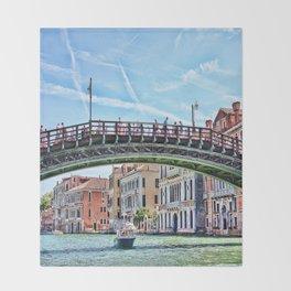 Ponte dell' Accademia Bridge In Venice, Italy Throw Blanket