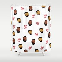 the 100 Shower Curtains featuring 100 by North XV